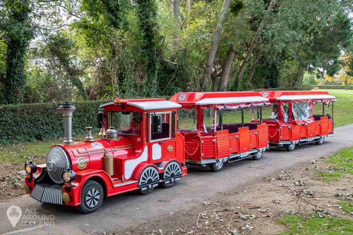 Toots, the Malahide Road Train, leaving Malahide Castle.