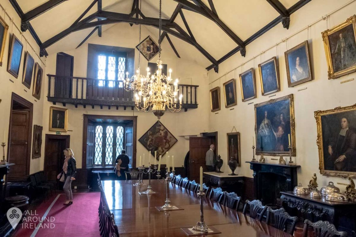 Dining room and gallery at Malahide Castle