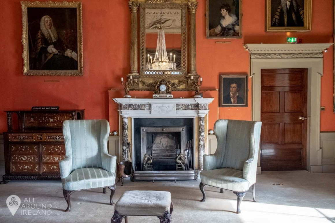 One of the drawing rooms at Malahide Castle, Dublin