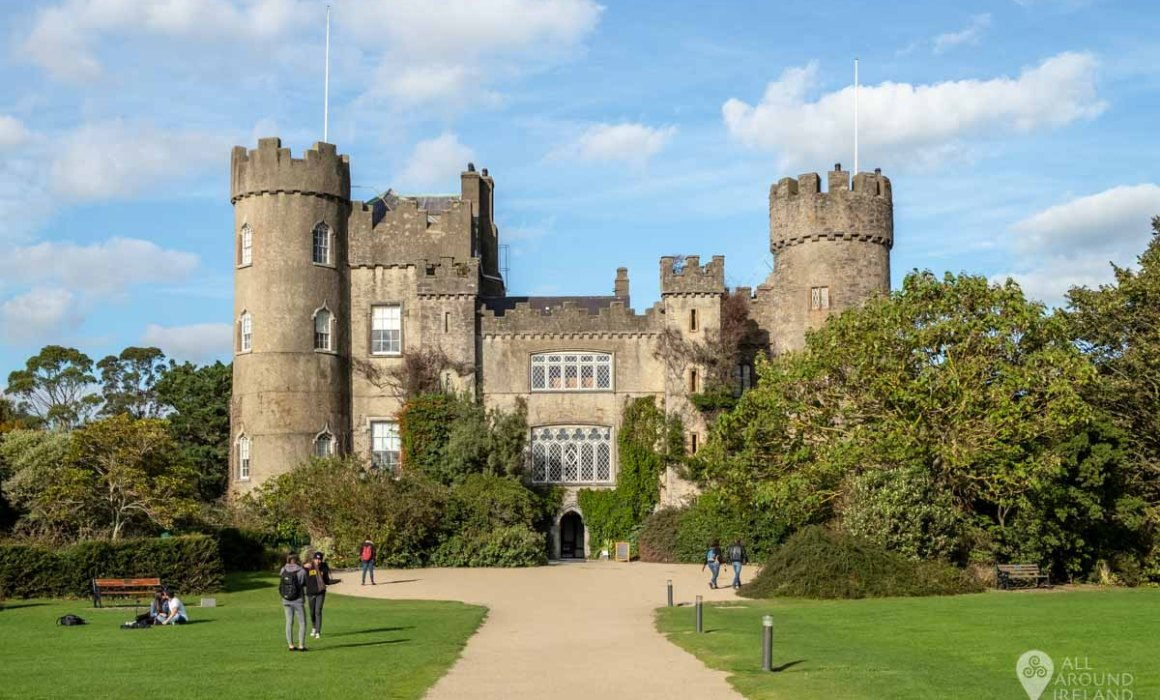 Front view of Malahide Castle