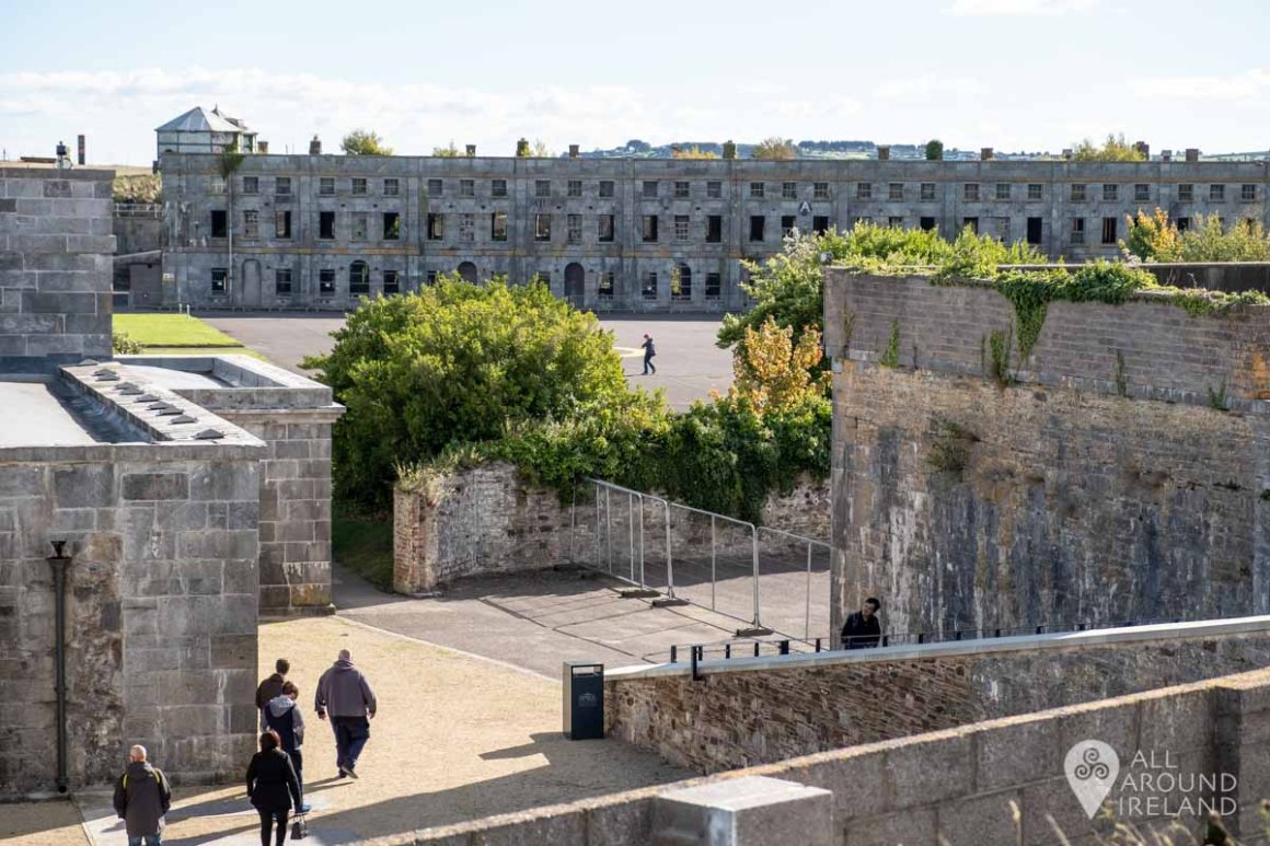 Looking back into the fort from Bastion 6 on Spike Island