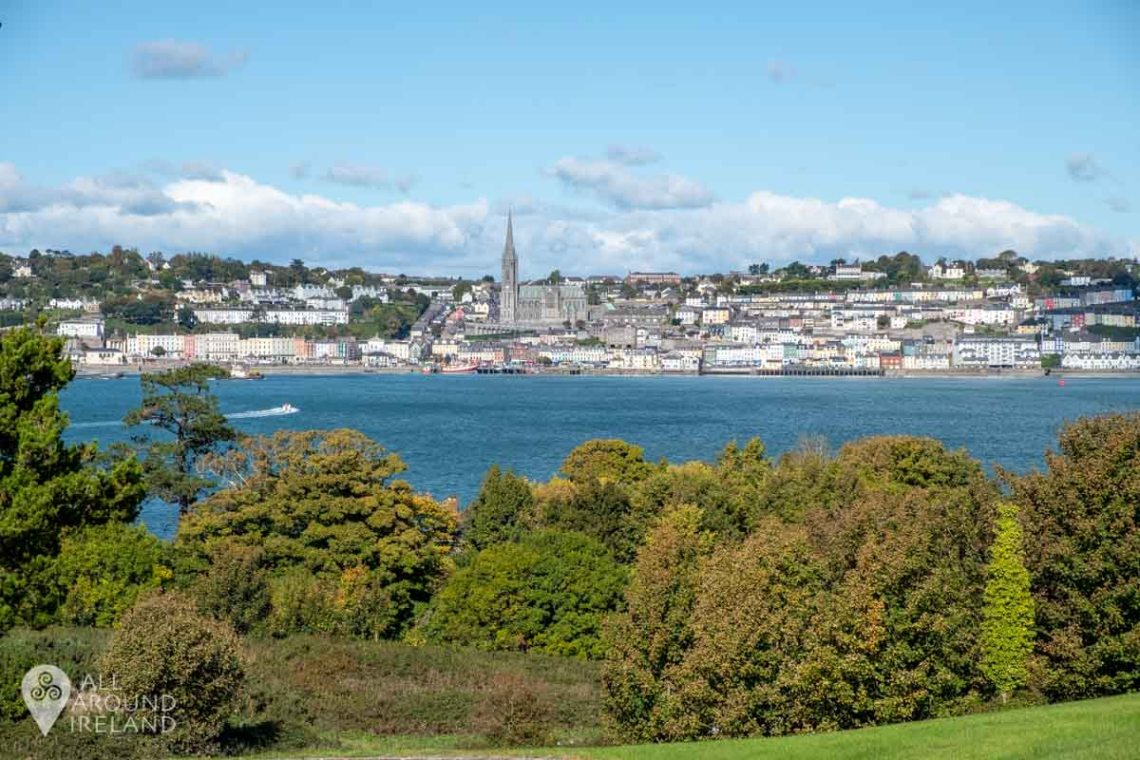 View across the harbour back to Cobh from Spike Island.