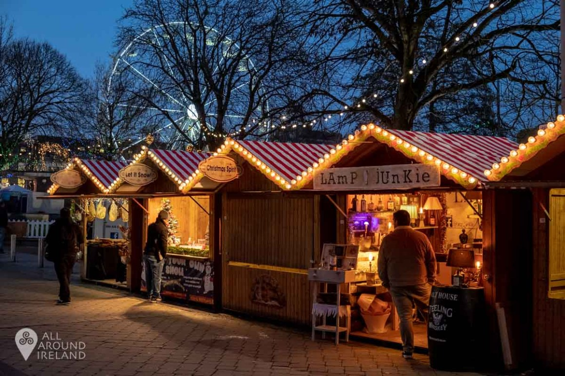 Craft stalls at the Galway Christmas Market