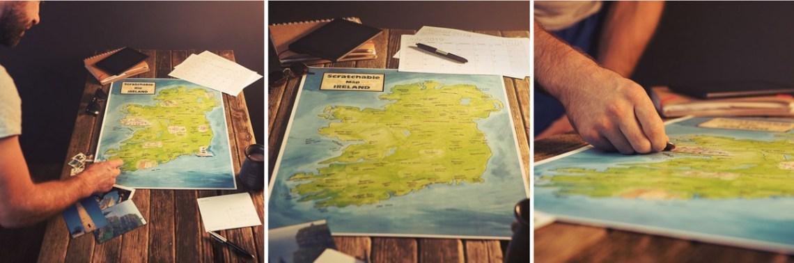 Scratchable Map Ireland
