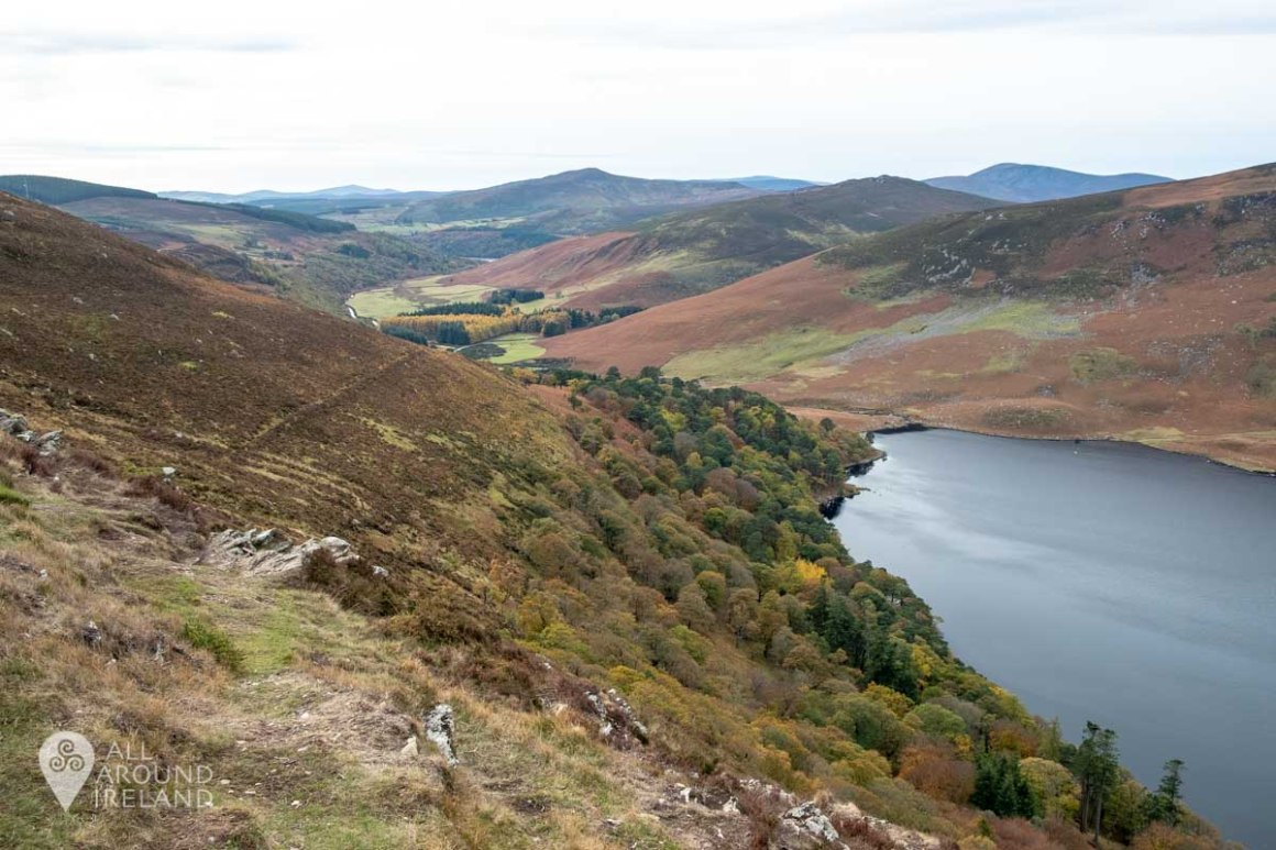 Beautiful view over the mountains from Lough Tay