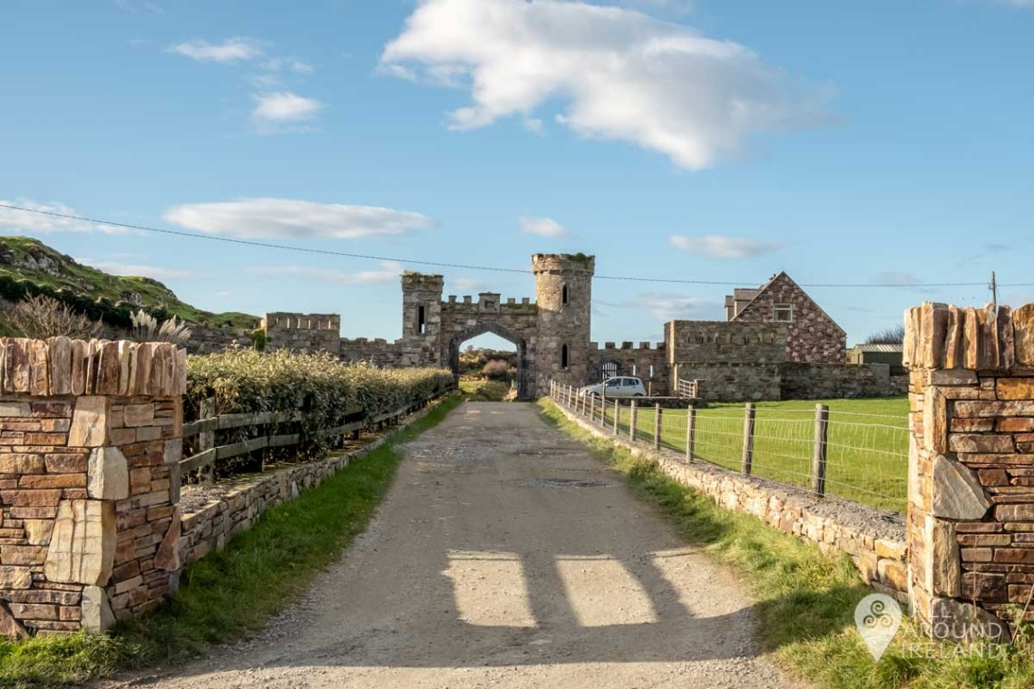 Pathway leading to the entrance to Clifden Castle
