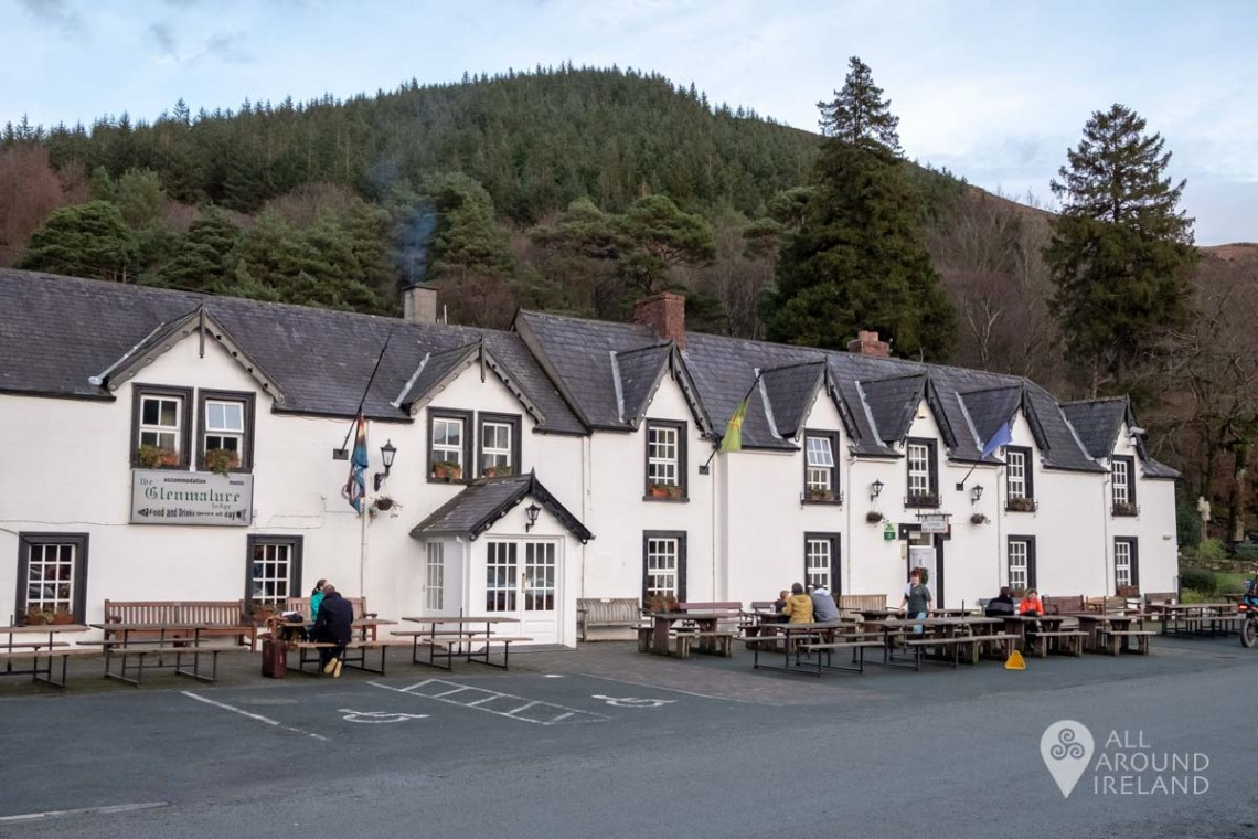 The Glenmalure Lodge close to where Bosca Beatha is situated