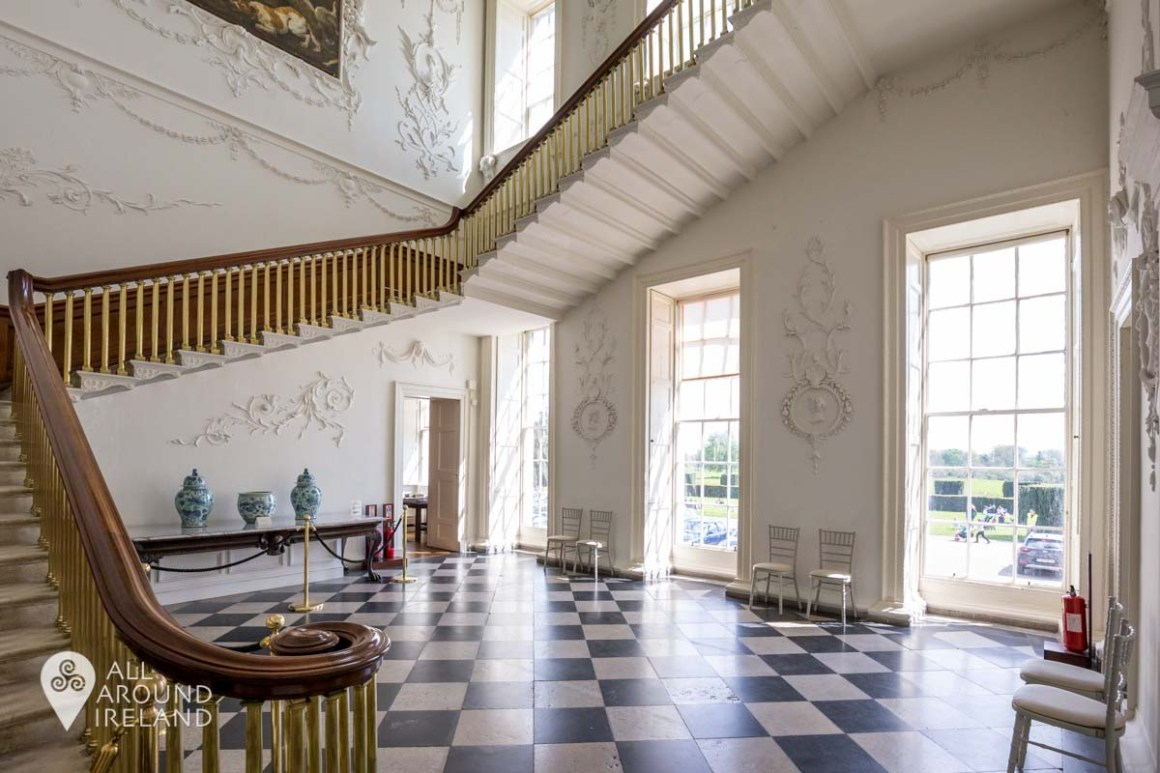 The splendid Staircase Hall at Castletown House