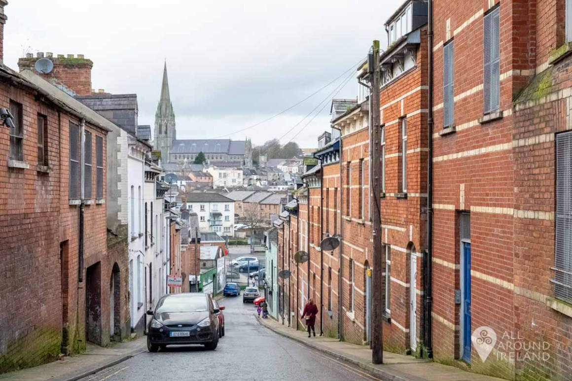 Hilly street in Derry