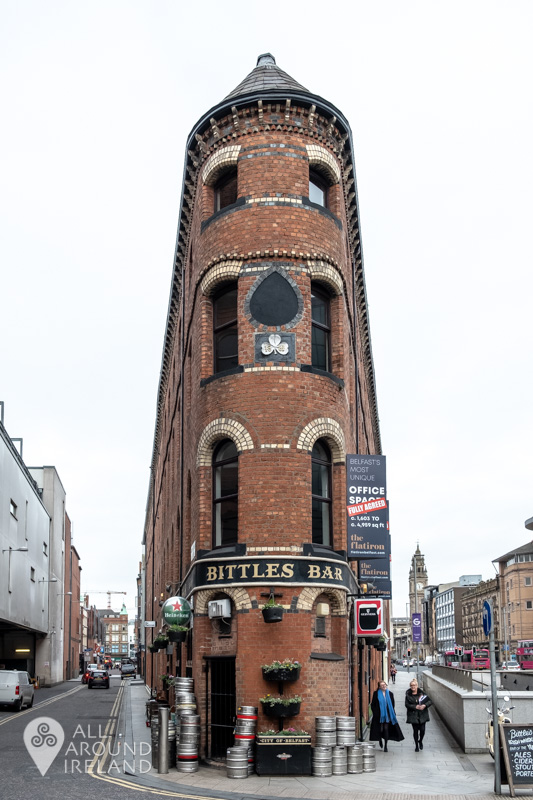 The unique building that houses Bittles Bar