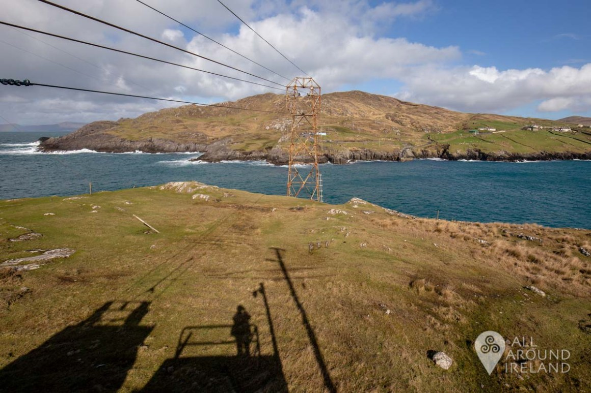 Looking to the mainland from the cable car departure point on Dursey Island