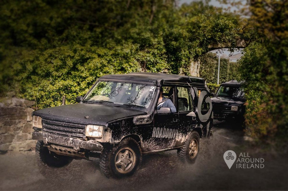 4x4 jeeps returning to base at Off Road Driving