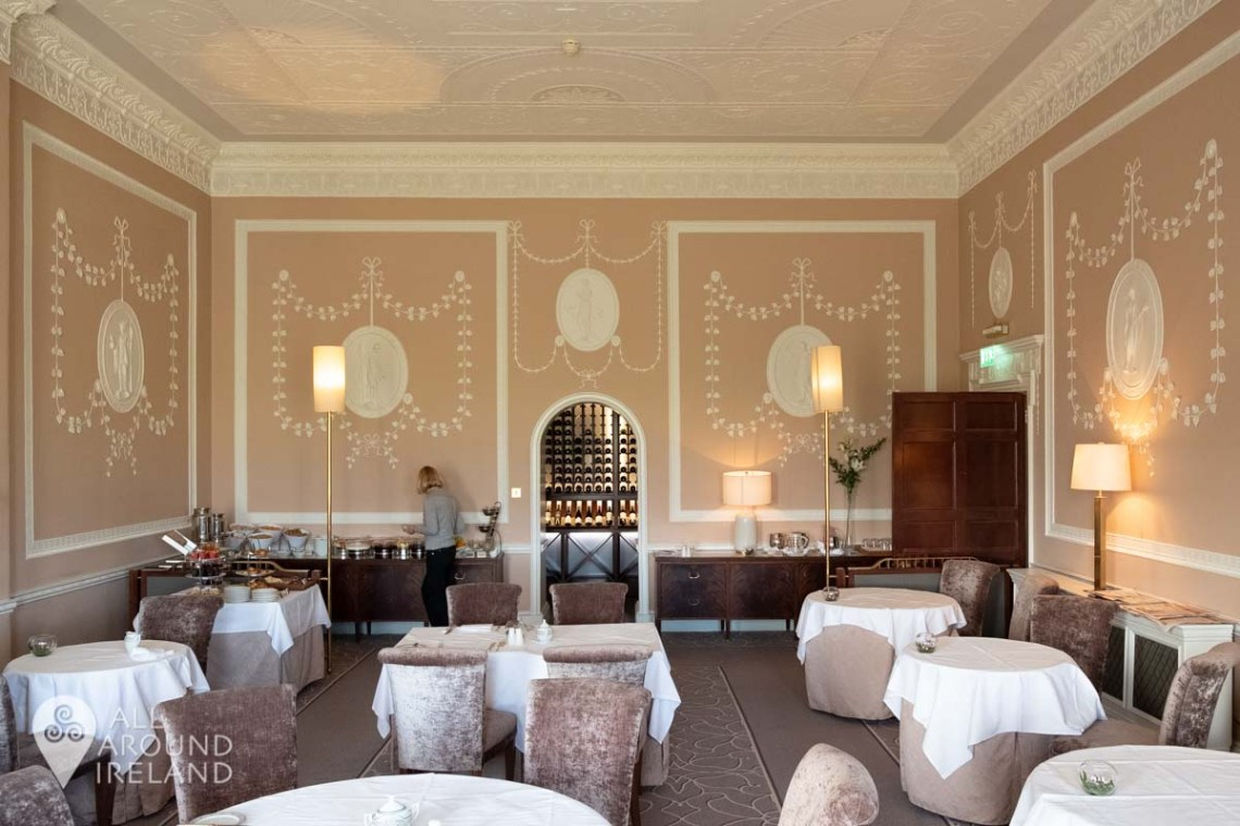 The opulent Lady Helen restaurant in the Manor House at Mount Juliet Estate