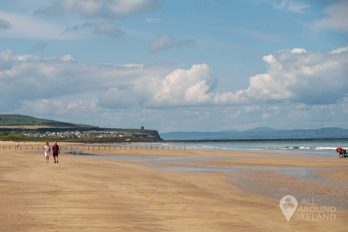 View towards Mussenden Temple and beyond to Donegal from Portstewart Strand.