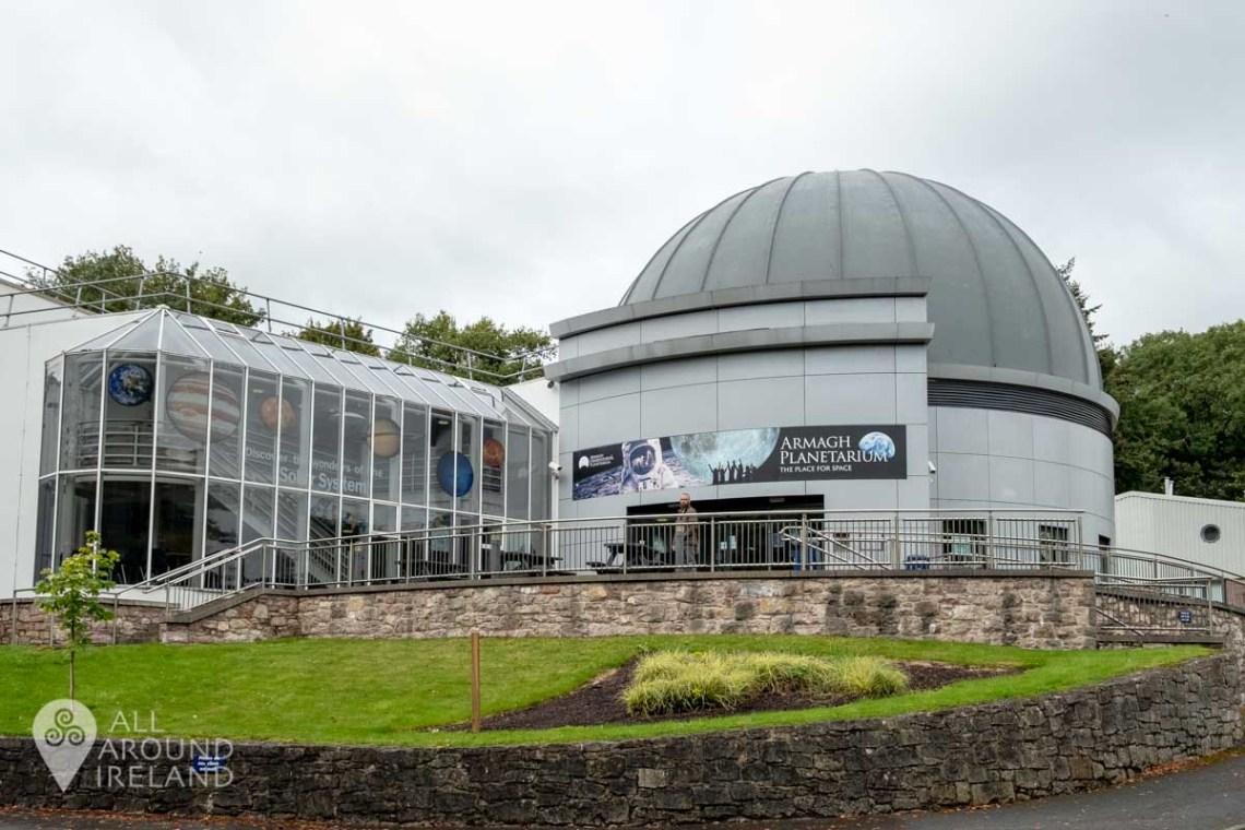 Exterior shot of Armagh Planetarium