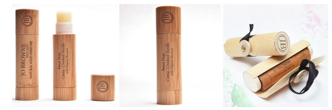 Jo Browne Solid Perfumes and bamboo gift tube