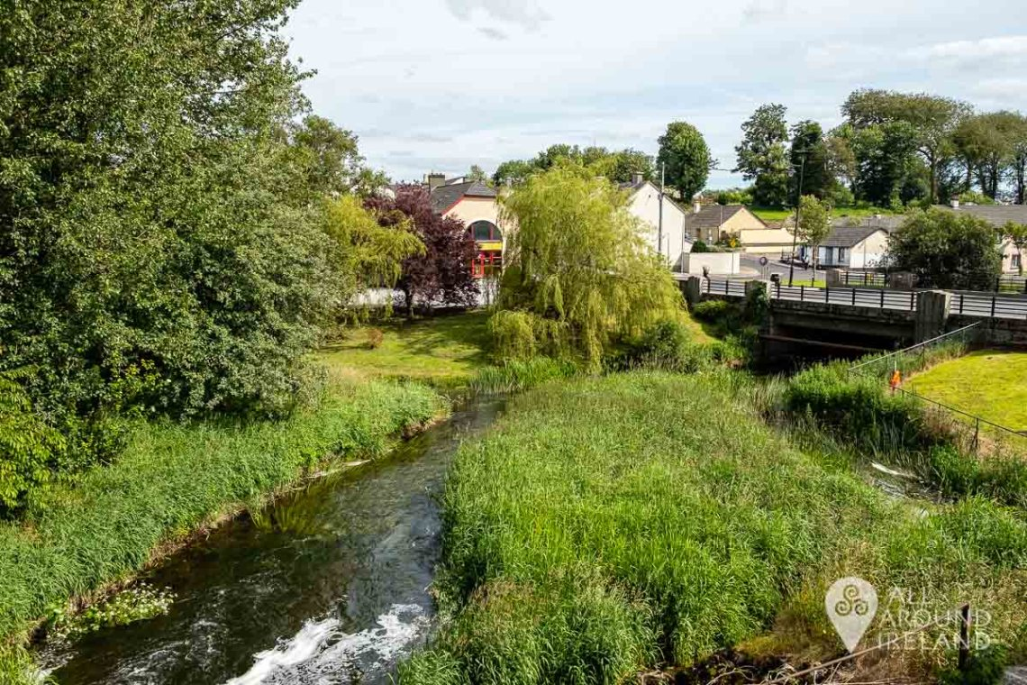 The river Brosna flowing by the Kilbeggan Distillery