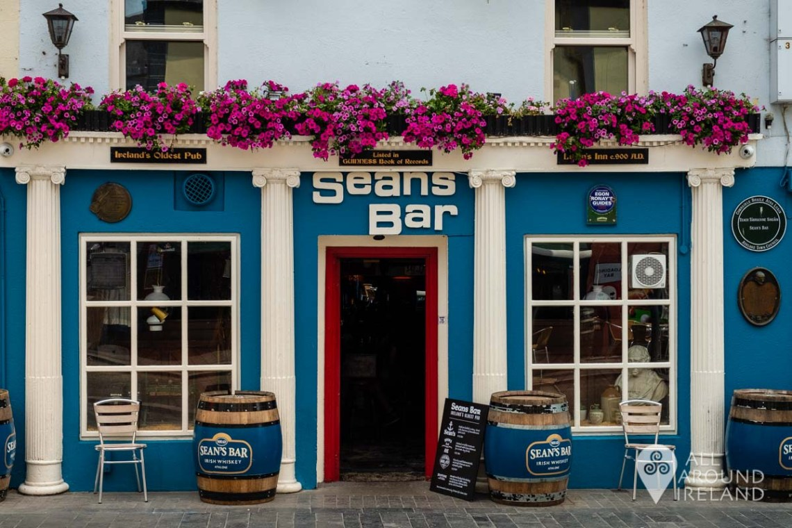 Exterior of Sean's Bar in Athlone - unique things to do in Ireland
