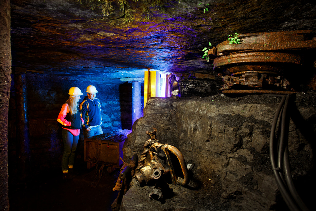 A couple underground on the Arigna Mining Experience - unique things to do in Ireland