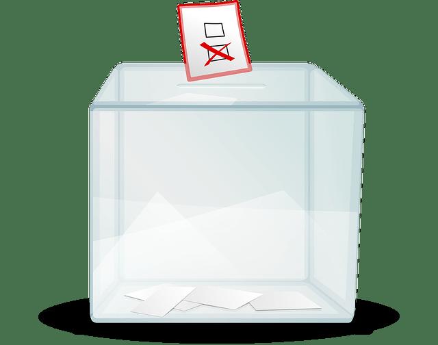 Transparent voting box