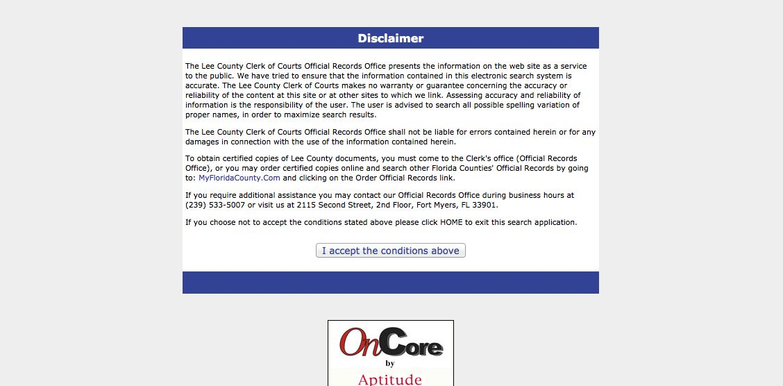 Lee Clerk Deed Retrieve Step 3