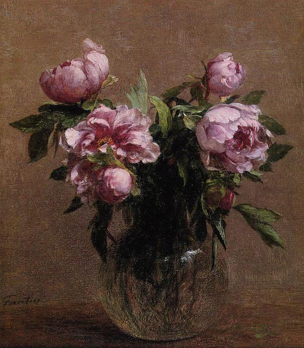 Paintings Reproductions Fantin-Latour, Ignace-Henri- Theodore Vase of Peonies, 1902