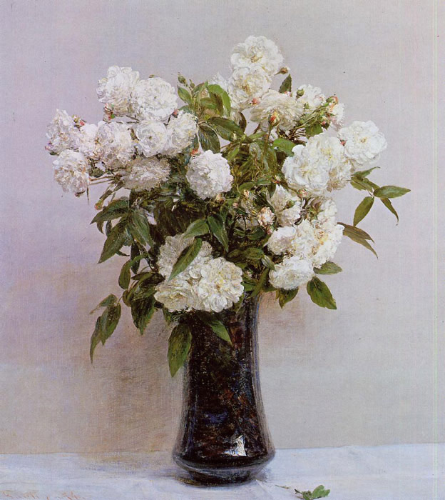 Paintings Reproductions Fantin-Latour, Ignace-Henri- Theodore Fairy Roses, 1874