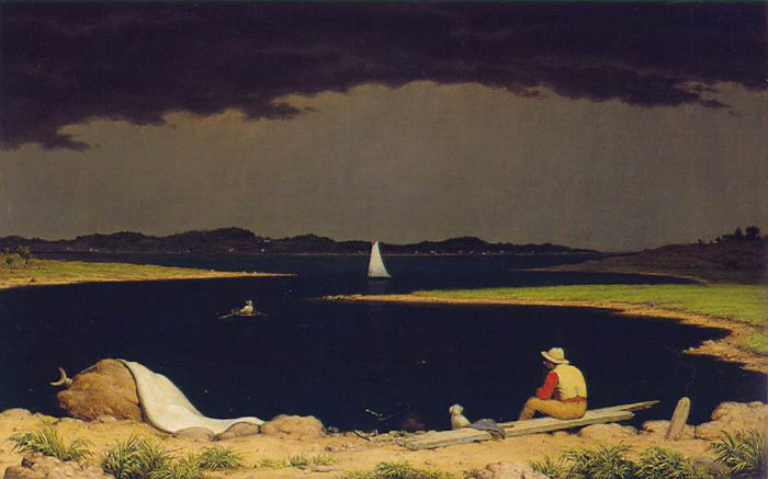 Paintings Reproductions Heade, Martin Johnson Approaching Thunderstorm, 1859