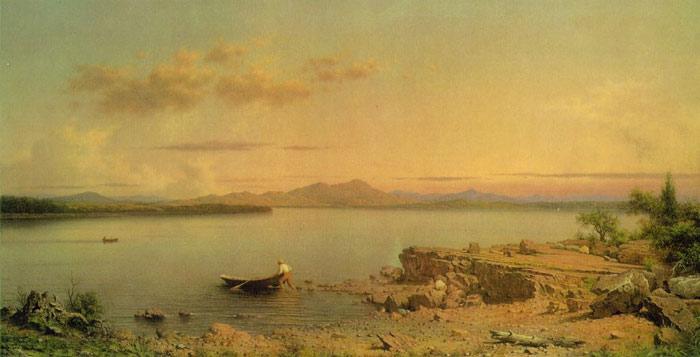 Paintings Reproductions Heade, Martin Johnson Lake George, 1862