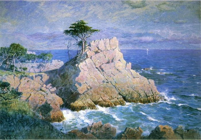 Paintings Reproductions Haseltine, William Stanley Midway Point, California, 1899