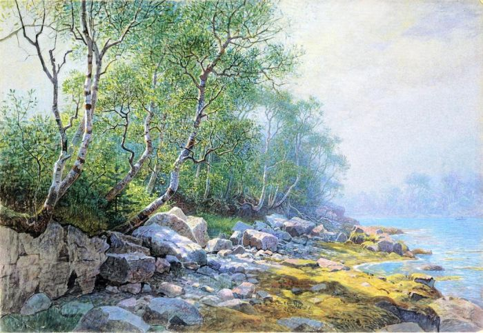 Paintings Reproductions Haseltine, William Stanley Seal Harbor, Mount Desert, Maine, 1895