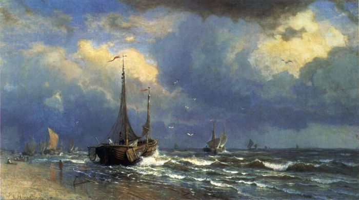 Paintings Reproductions Haseltine, William Stanley Dutch Coast, 1883