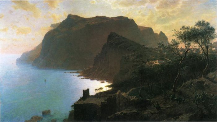 Paintings Reproductions Haseltine, William Stanley The Sea from Capri, 1875