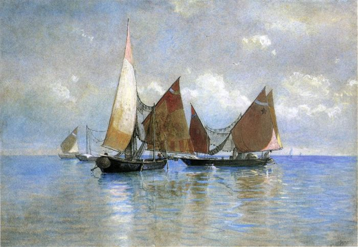 Paintings Reproductions Haseltine, William Stanley Venetian Fishing Boats, 1880