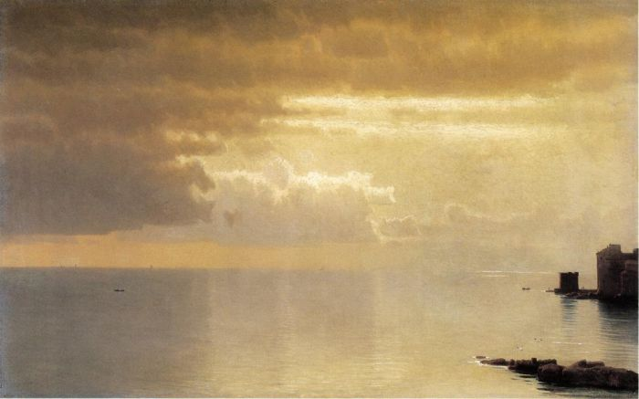 Paintings Reproductions Haseltine, William Stanley A Calm Sea, Mentone, 1868