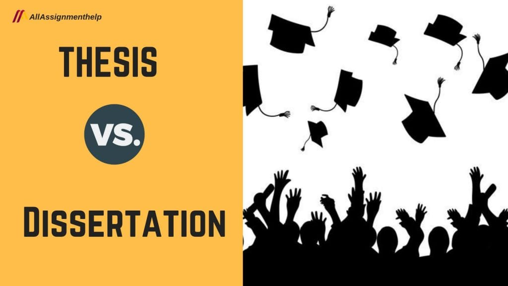 Thesis and dissertation difference between two