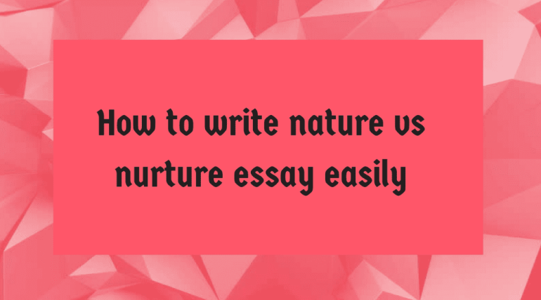 nature versus nurture 6 essay Nature vs nurture the nature vs nurture argument has been the longest outstanding debate in the field of psychology each side holds steadfastly on their points of views and why not  nature vs nurture (essay sample) may 15, 2017 by admin essay samples, free essay samples  free essay sample on the given topic advantages of studying.