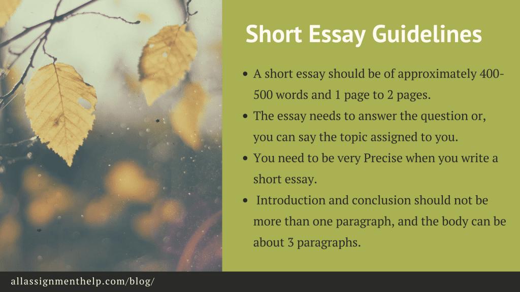 Short essay definition of short essay short essay examples guidelines