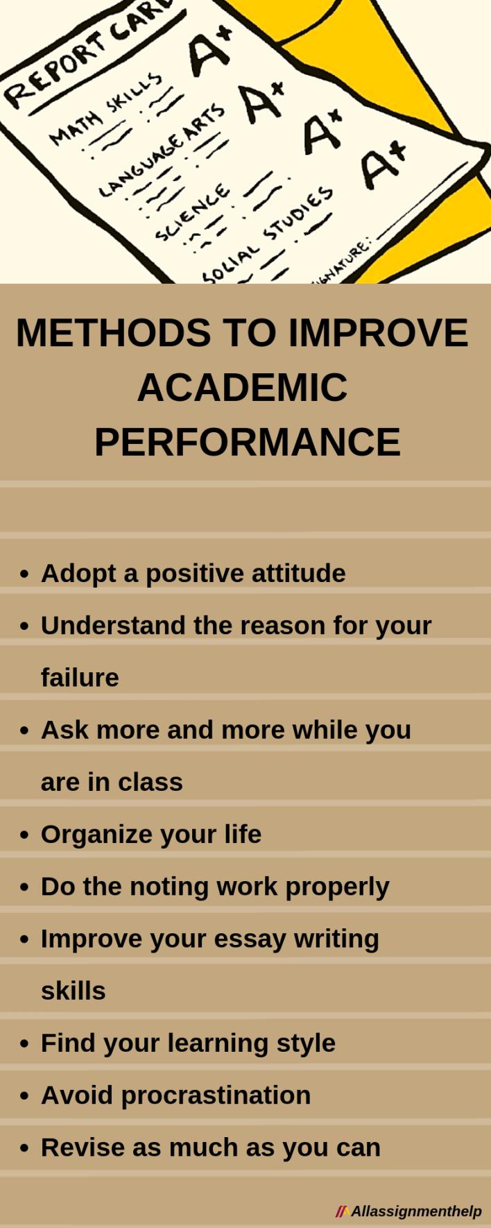 Methods to improve academic performance