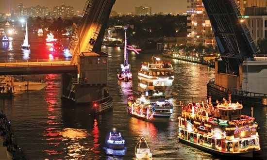 Christmas Boat Parade Schedule ALL AT SEA
