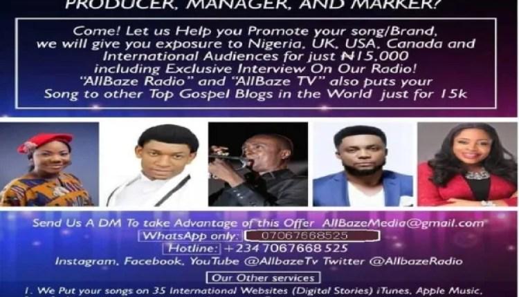Promo Promo Promo, Are You A Gospel Music Artist, Producer, Manager