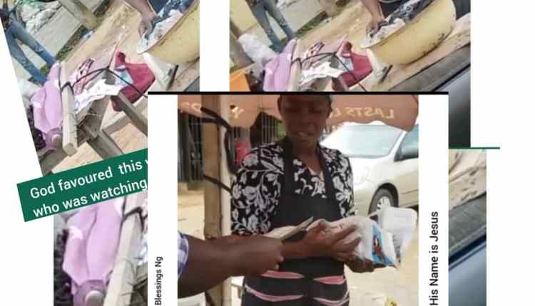 See how God Favoured This Woman A corn seller