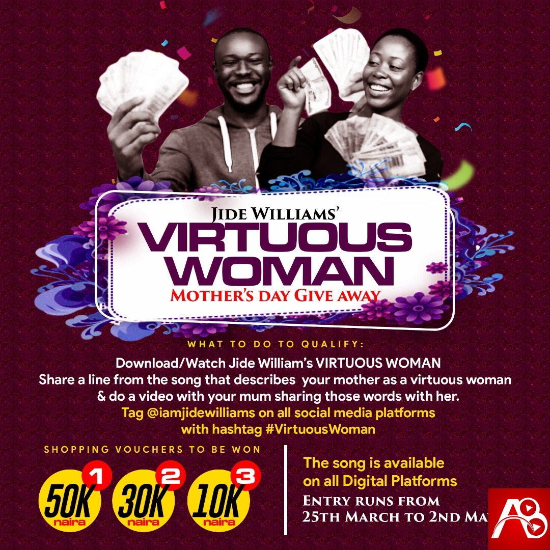 Jide Williams to give out over 100k voucher in celebration of International Mothers Da