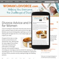 Custom website design responsive for woman's divorce