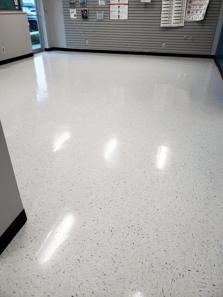 vct cleaning floor stripping waxing
