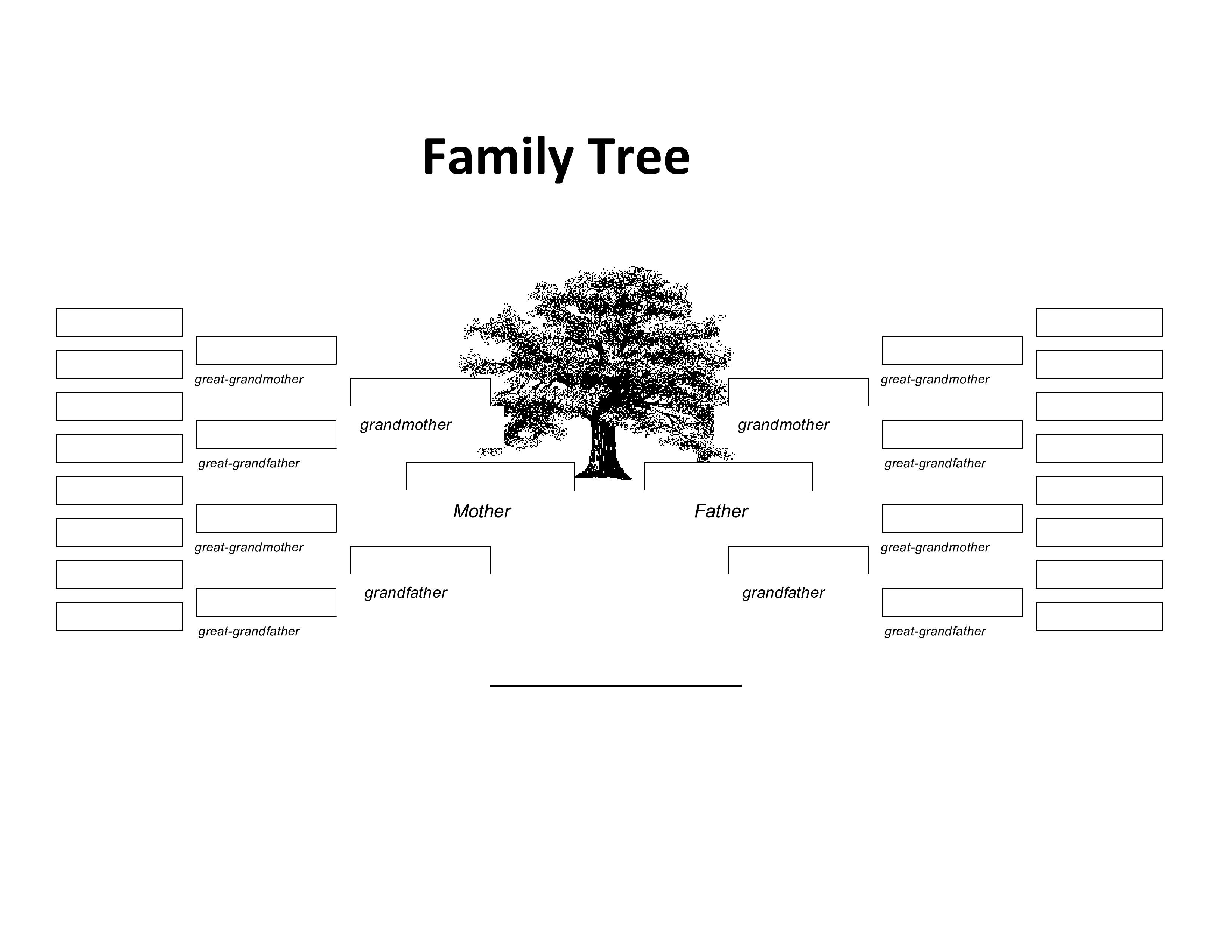 Blank 5 Generation Family Tree