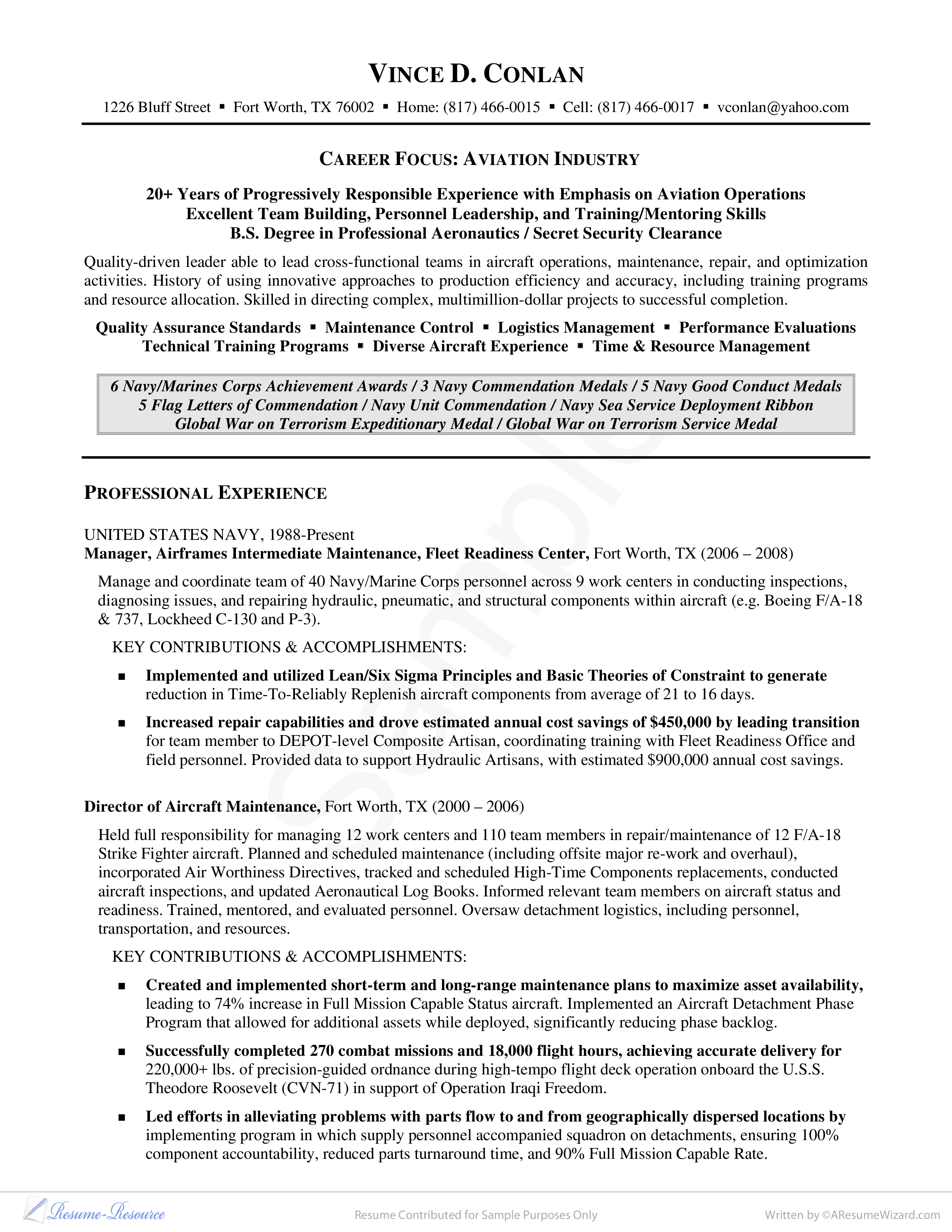 letters of commendation sample
