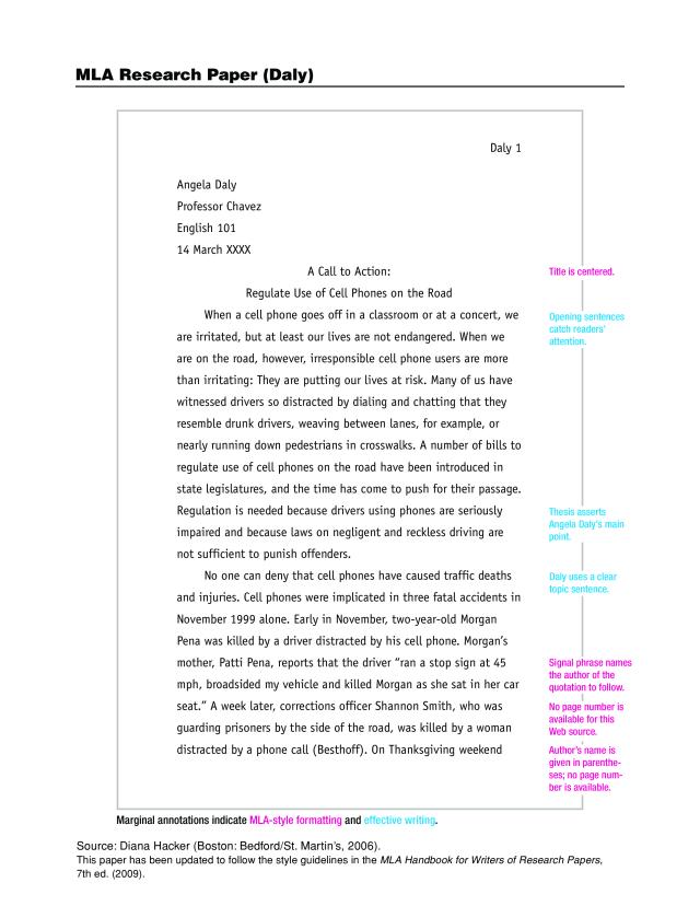 Gratis Sample MLA Research Paper