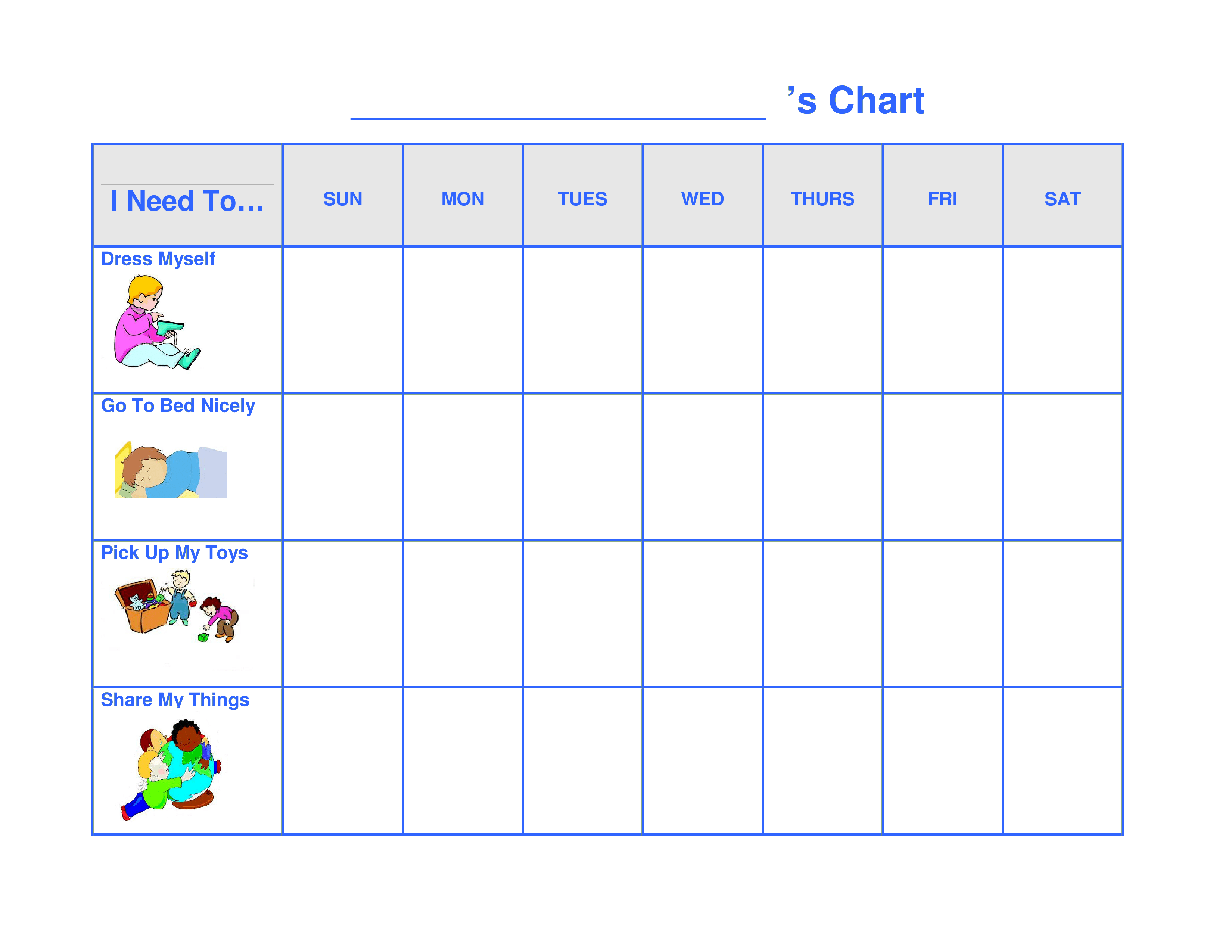 Printable Preschool Behavior Chart