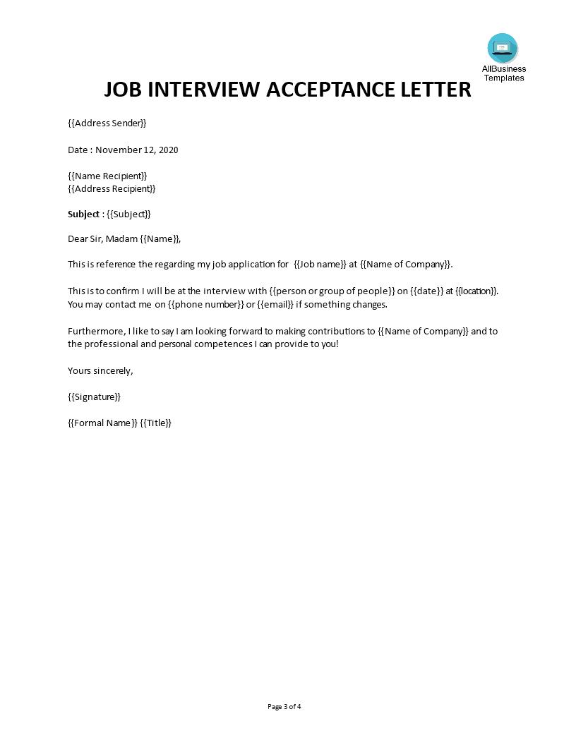 job interview invitation templates